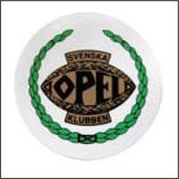 Dekal med Svenska Opelklubbens logga